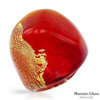 BRAND NEW MADE IN ITALY MURANO GLASS COCKTAIL RING