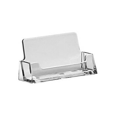 100 Clear Plastic Business Card Holders