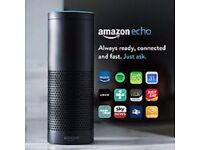 Black Amazon Echo HD Speaker with Voice Controlled Personal Assistant NEW