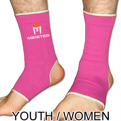 MEISTER PINK MUAY THAI ANKLE SUPPORTS YOUTH/WOMEN - Compression MMA Brace Wraps