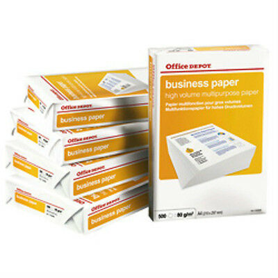 Office Depot A4 White 80 gsm Colour Business copy copier paper 5 reams Box