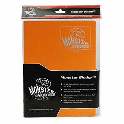 Monster Binder - 9 Pocket Trading Card Album - Matte Orange - Holds 360 Yugioh,