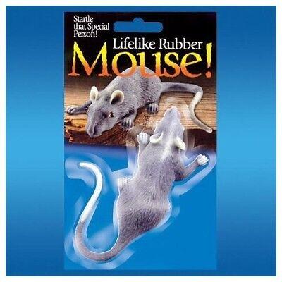 Fake Gag - Realistic Full Size Fake Rubber Mouse - Lifelike Cat, Dog Toy Fun Joke Gag Gift
