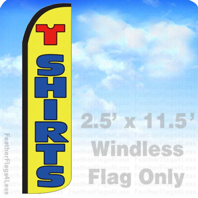 T-shirts - Windless Swooper Flag Feather Banner Sign 2.5x11.5 Yz