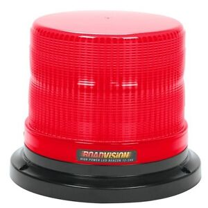 RED-LED-ROTATION-BEACON-FIXED-MOUNT-CLASS-1-12-24V-TRUCK-CARS-BOATS