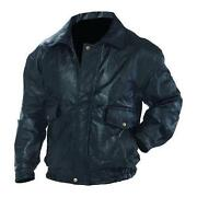 Mens Leather Jacket XXXL
