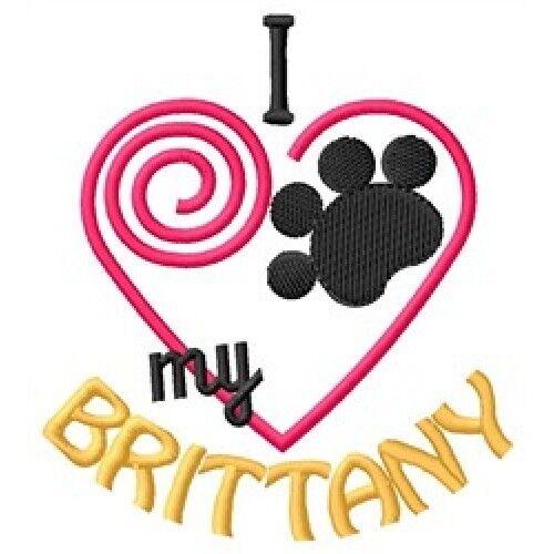 """I """"Heart"""" My Brittany Fleece Jacket 1350-2 Size S - XXL"""