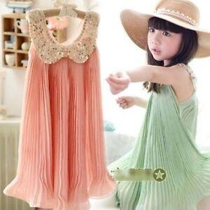 Stock-Kid-Baby-Girls-Chiffon-Princess-Sleeveless-TuTu-Dress-Sundress-Skirts
