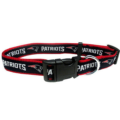 "NFL New England Patriots Adjustable Dog Collar Size Medium 5/8"" W by 12-18"" L"