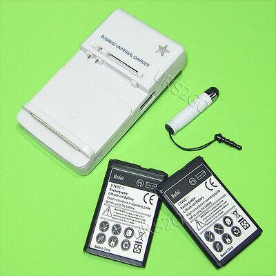 Accessory 2x 1050mah Battery Charger Pen F Straight Talk/...