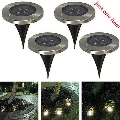Solar Powered LED lamp Stainless Steel In Ground light Outdoor Garden Path Deck