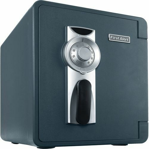 First Alert 2087F-BD Waterproof and Fire-resistant Bolt-down Combination Safe, 0