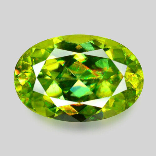 1.47cts WONDERFUL LUSTER NATURAL CHARTREUSE GREEN SPHENE VIDEO IN DESCRIPTION