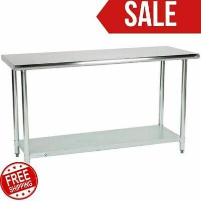 24 X 60 Adjustable Table Work Prep Undershelf Restaurant Indoor Stainless Steel