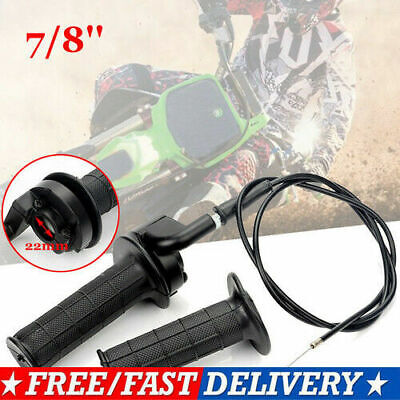 Kungfu Mall 7//8inch Handlebar Hand Grip Dual Cable Throttle Sleeve Tube Sportbike Scooter ATV