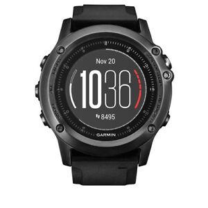 günstig kaufen Garmin fēnix 3 Saphir HR 1,2 Zoll GPS-Multisportuhr mit Schwarzem Silikonarmband 010-01338-71