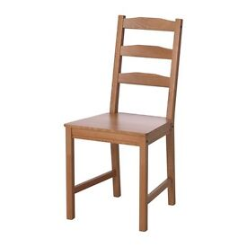 2 brown wooden Chairs £5 each