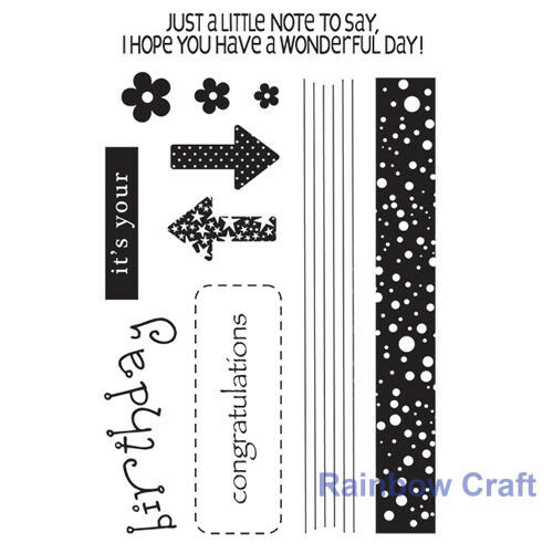 Couture Creation stamp set - Fantastic Collection (12pcs) 4 x 6 inch