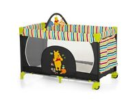 Brand New in Box Travel Cot - Hauck Dream n Play Go (Pooh Tidy Time)