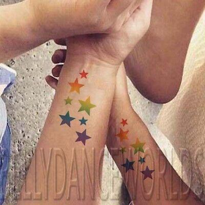 Temporary Rainbow Tattoos (WHOLESALE LGBT Rainbow STAR CLUSTER Gay Pride Lesbian Temporary Tattoo)