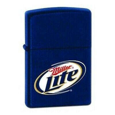 Rare Retired Blue Miller Lite Beer Zippo Lighter