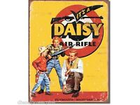 "1940 Daisy Red Ryder BB Gun Vintage Rustic Retro Metal Sign 8/"" x 12/"""