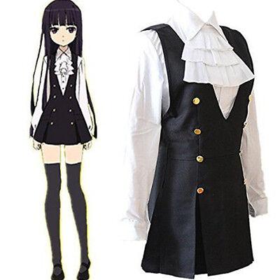Inu x Boku SS Ririchiyo Shirakiin Cosplay Kostüm Uniform Dienstmädchen Damen (Dienstmädchen Uniform Kostüm)