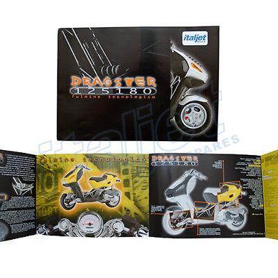 Italjet Dragster 125cc/180cc Original Sales Brochure, Leaflet, Flyer, Catalogue