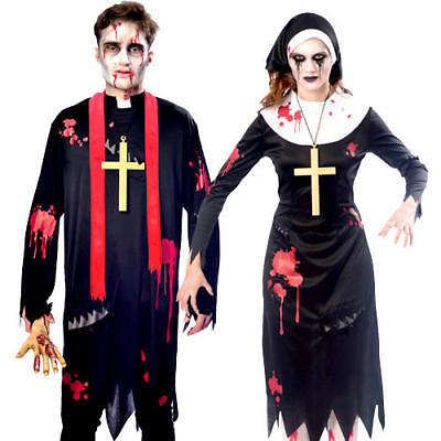 Zombie Religious Sinners Adults Fancy Dress Undead Gory Catholic Saint Costumes - Gory Halloween Costumes Adults