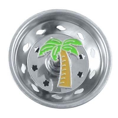 - Palm Tree Kitchen Sink Strainer - Stainless Steel - 06SS