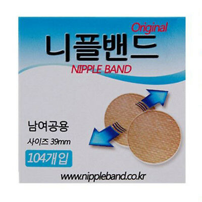Men Nipple Manner Cover Band Wide Sticker Patch Pad Hide Nipple 104 Pcs (39mm)