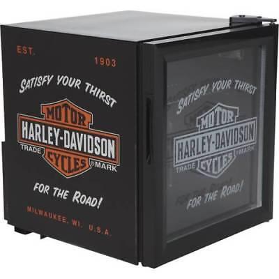 Nostalgic Mini Fridge Harley Davidson Compact Beverage Cooler Garage Man Cave
