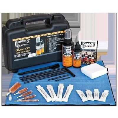 HOPPE'S Elite Gun Cleaning Kit On The Go Hard Case Shotgun Rifle Pistol (Elite Gun Cases)