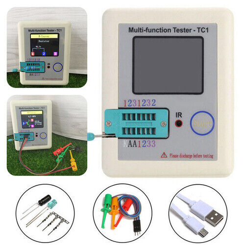 """3.5"""" LCD Multifunction Transistor Tester LCR-TC1 Full Color Graphics Display FF"""