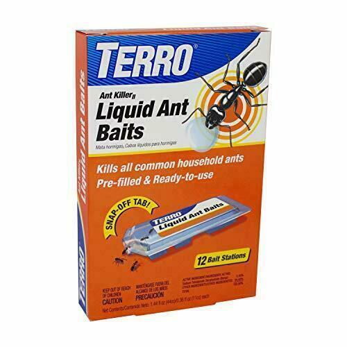 TERRO T300B Liquid Ant Bait Killer, 12 bait stations 12