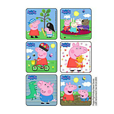 25 Peppa Pig STICKERS Party Favors Supplies for Birthday Treat Loot Bags - Pig Birthday