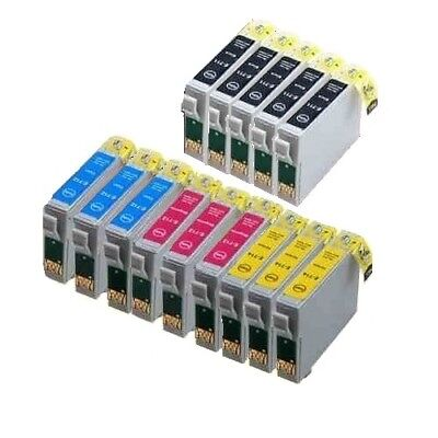 14 Tintenpatronen (14x Tinten Patronen für Epson WorkForce WF-2660DWF WF2630 WF WF2650 DWF mit chip)