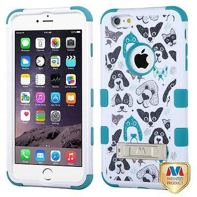 MYBAT Cute Dogs TUFF Hybrid Case Cover stand for APPLE iPhone 6 Plus 6s Plus