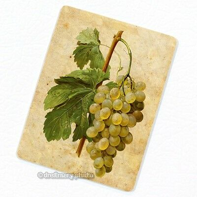White Grape Deco Magnet, Decorative Fridge Kitchen Décor Fo
