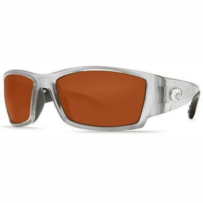 944c5c556f New Costa Del Mar Corbina Polarized Sunglasses 580P Silver Copper Wrap