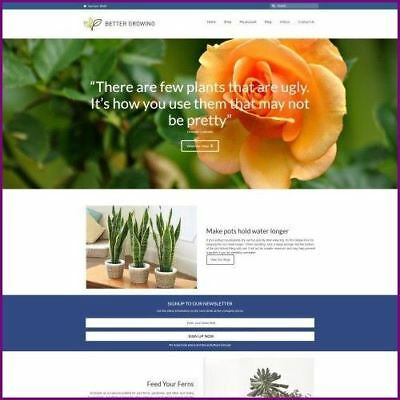 Fully Stocked Dropshipping Plants Website Business For Sale Domain Hosting