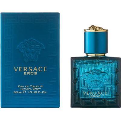 Versace Eros Men Eau De Toilette Spray 1.0 Oz / 30 Ml New Sealed In Box