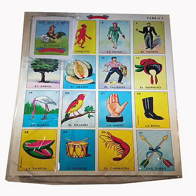 - Mexican Jumbo size Loteria Bingo Card Game Authentic For 10-players Net wt 8-oz