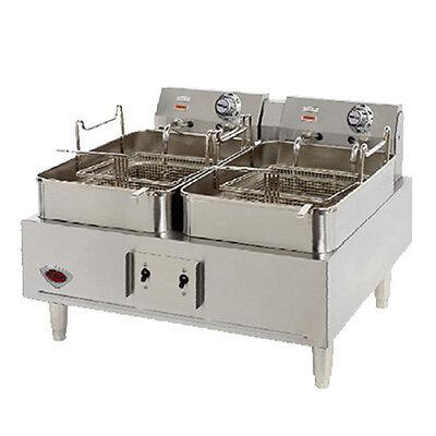 Wells F-30 Electric Dual Fry Pot Countertop Fryer W 15 Lb Capacity