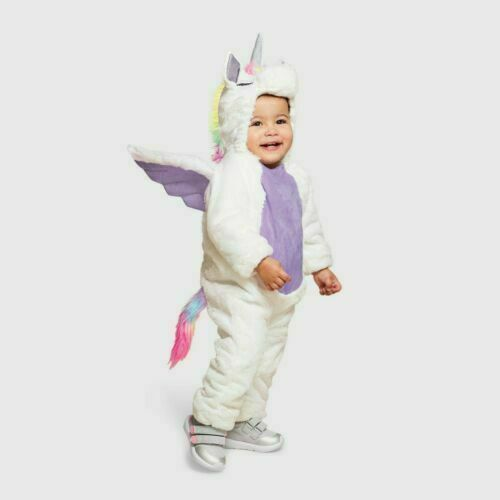 Unicorn Costume 0-6 Months Jumpsuit Plush Hyde and Eek Boutique Halloween Baby