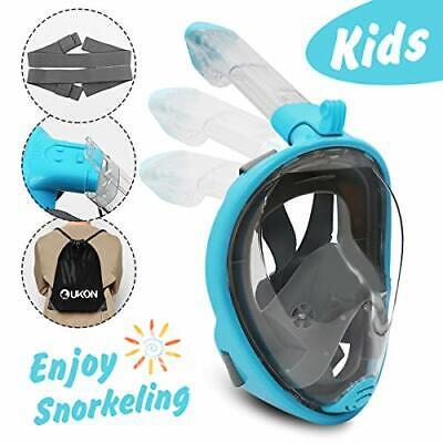 Full Face Snorkel Mask Diving Scuba Anti-fog Foldable Tube for Adult Kids