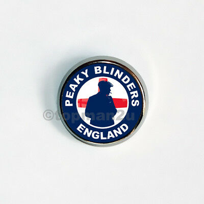 New, Quality Circular Metal Pin Badge PEAKY BLINDERS ENGLAND, Football World Cup