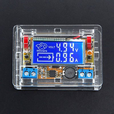Dc-dc Step Down Power Supply Adjustable Module With Lcd Display Housing Case