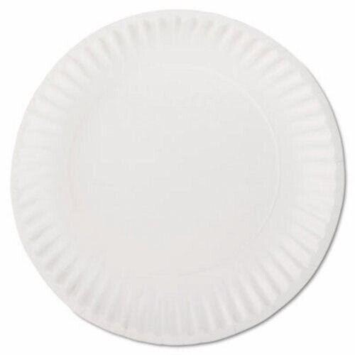"AJM White 9"" Paper Plates, Uncoated, 1,000 Plates (AJMPP9GREWH)"