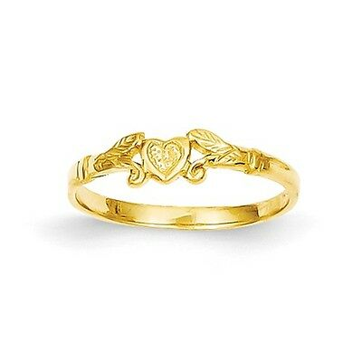 14k Heart Baby Ring Size 1